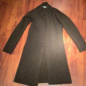 Vince Brown Alpaca Cashmere Cardigan Sweater S
